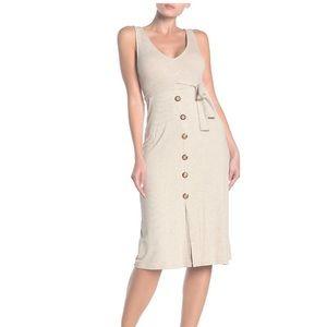 NEW Velvet Torch Asymmetric Midi Dress S